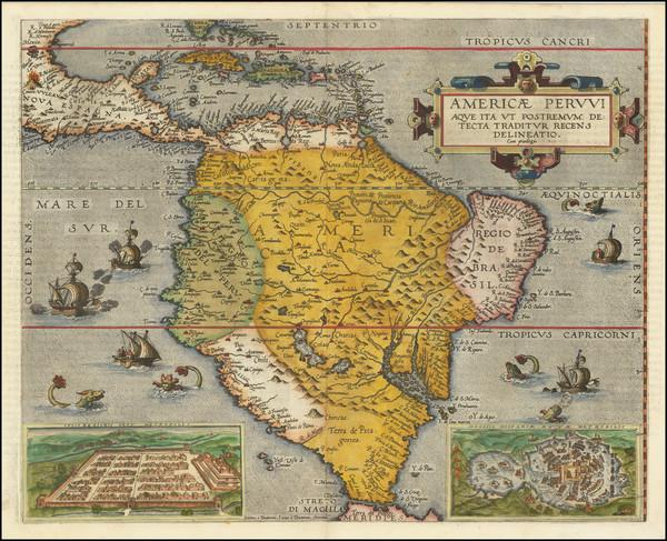 1-South America and Brazil Map By Cornelis de Jode