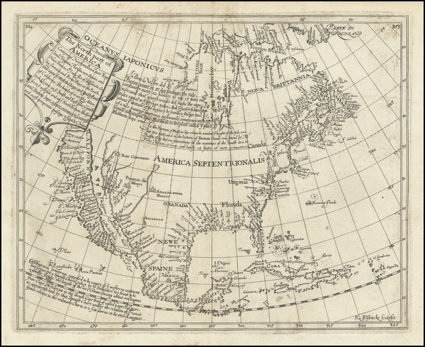 71-Southeast, North America and California as an Island Map By Henry Briggs