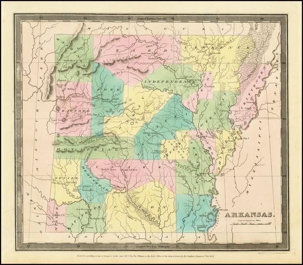 13-Arkansas Map By David Hugh Burr