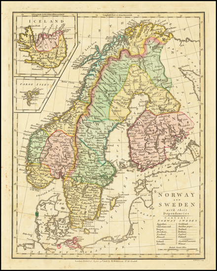 31-Scandinavia and Iceland Map By Robert Wilkinson