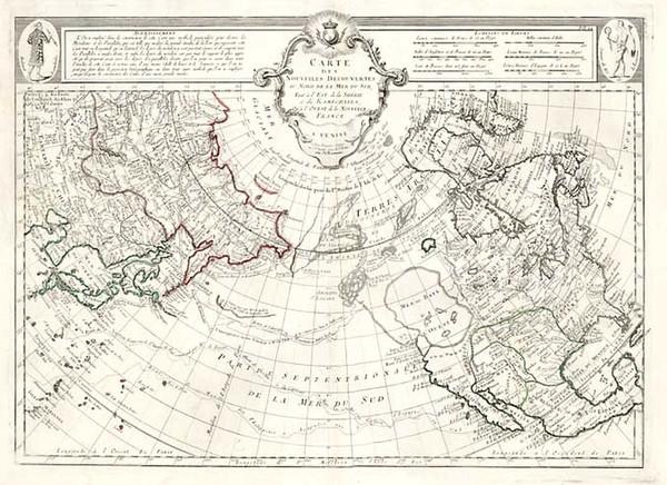 56-Alaska, North America, Asia and Asia Map By Giovanni Antonio Remondini