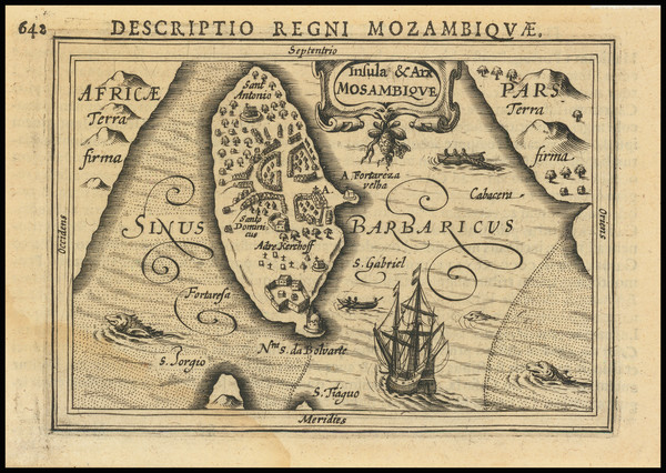 13-East Africa and African Islands, including Madagascar Map By Petrus Bertius