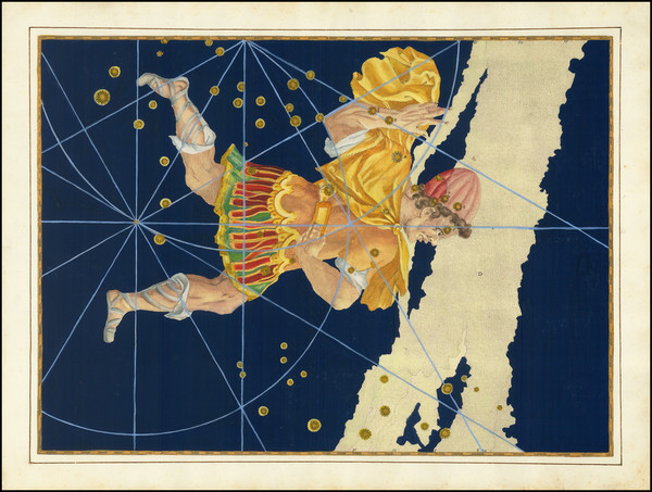89-Celestial Maps Map By Johann Bayer
