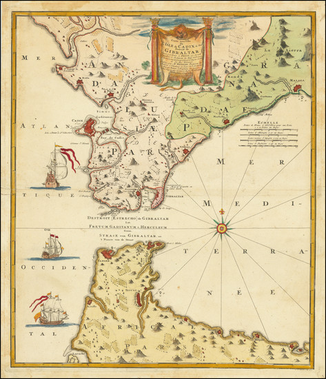 22-Spain and Gibraltar Map By Johann Baptist Homann