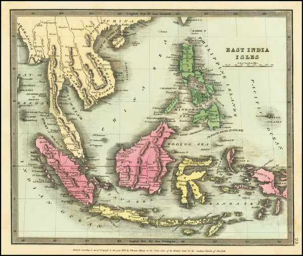 71-Southeast Asia, Philippines and Indonesia Map By David Hugh Burr