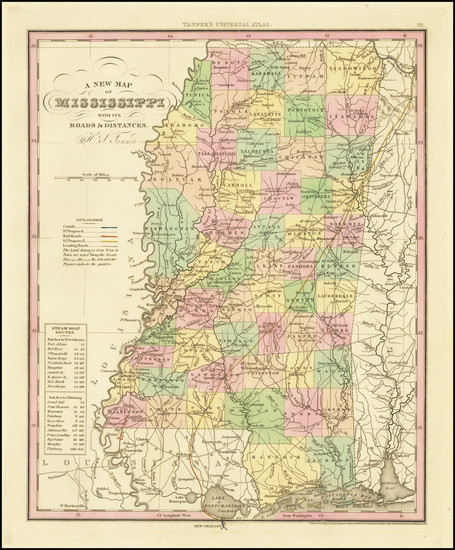 75-Mississippi Map By Henry Schenk Tanner