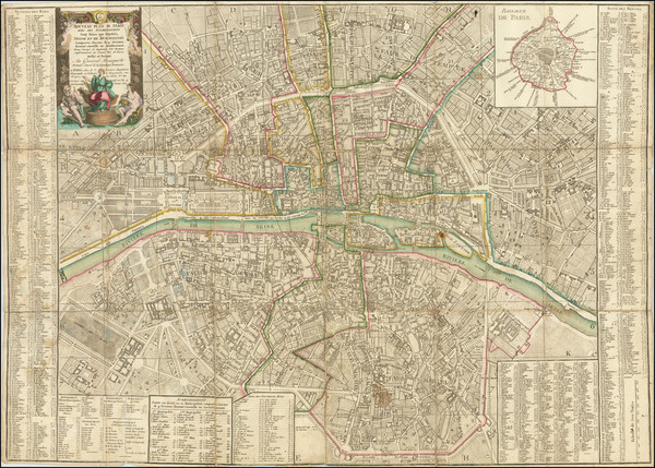 45-Paris Map By Louis Brion de la Tour