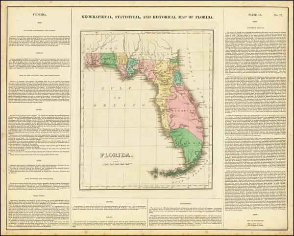 29-Florida Map By Henry Charles Carey  &  Isaac Lea