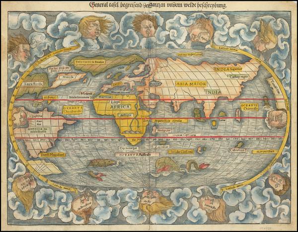 67-World Map By Sebastian Munster
