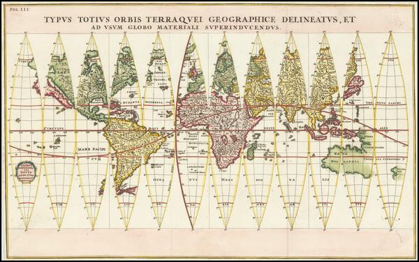 56-World Map By Heinrich Scherer