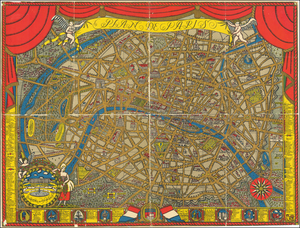 3-Paris and Pictorial Maps Map By Ilonka Karasz