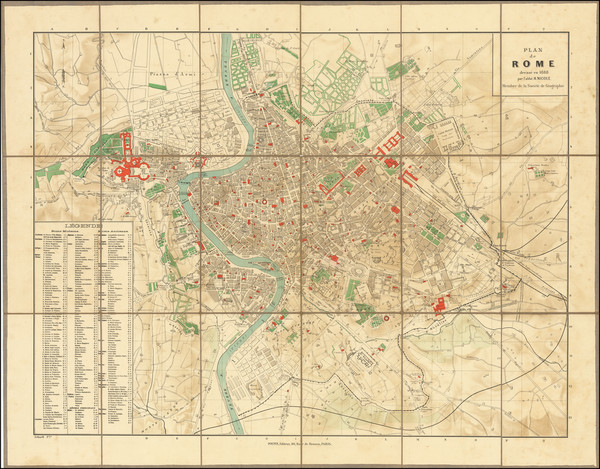 32-Rome Map By Georges Erhard