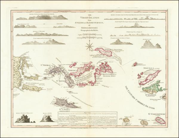 20-Virgin Islands Map By Thomas Jefferys