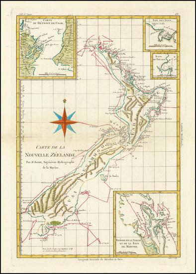 99-New Zealand Map By Rigobert Bonne