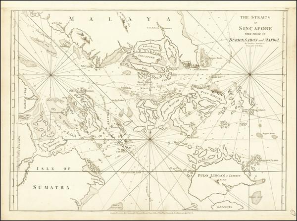 90-Singapore Map By Thomas Jefferys