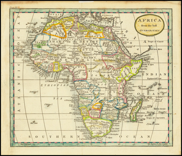 83-Africa Map By John Russell