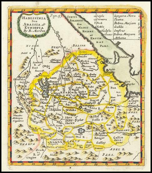77-East Africa Map By Robert Morden