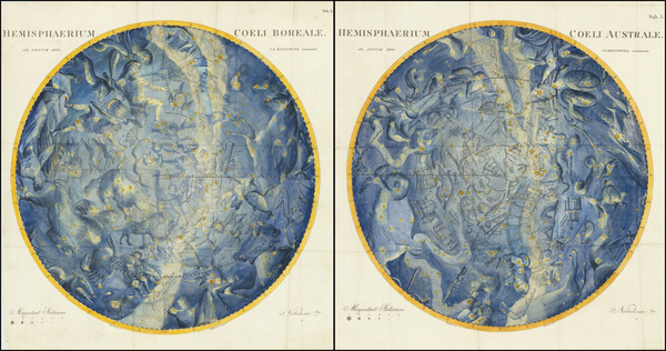 55-Celestial Maps Map By Johann Elert Bode