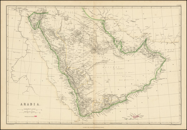 26-Arabian Peninsula Map By Blackie & Son