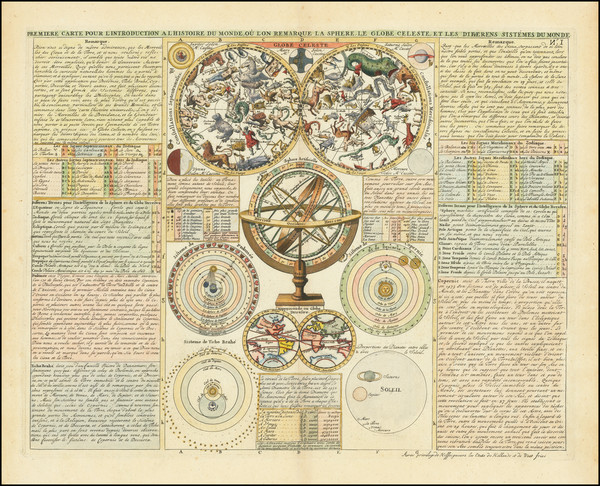 69-Celestial Maps Map By Henri Chatelain