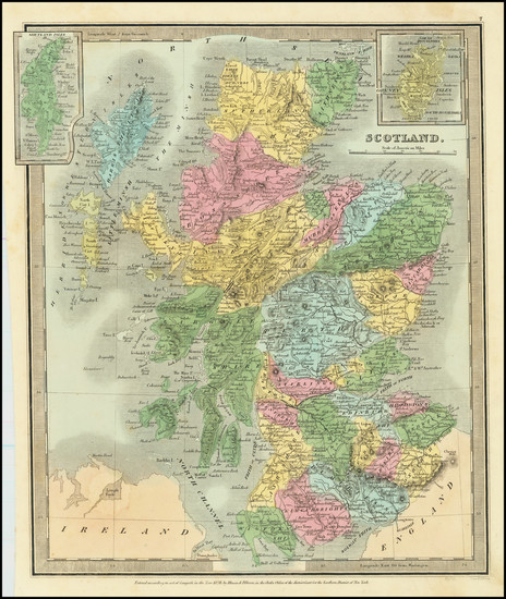 18-Scotland Map By David Hugh Burr