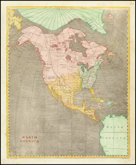 27-North America Map By Aaron Arrowsmith  &  Lewis