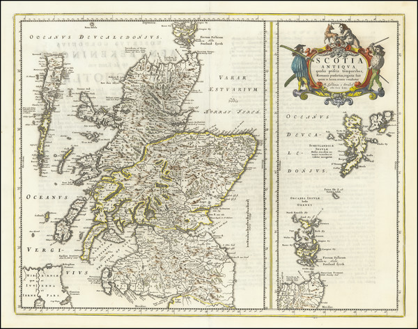 1-Scotland Map By Johannes Blaeu