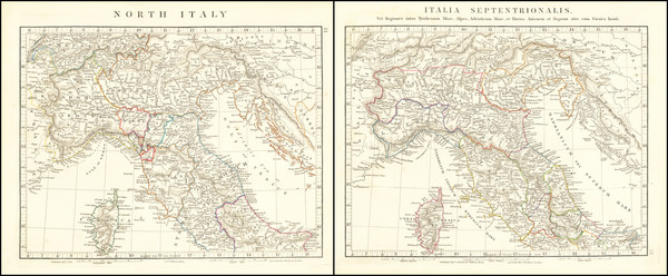 19-Northern Italy and Corsica Map By John Arrowsmith