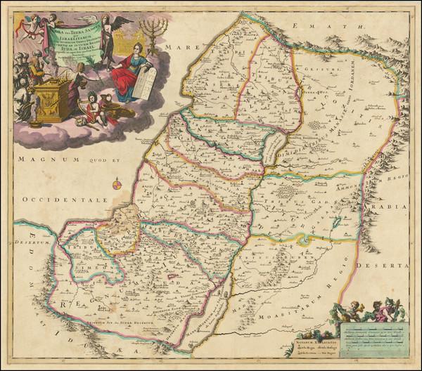 40-Holy Land Map By Theodorus I Danckerts
