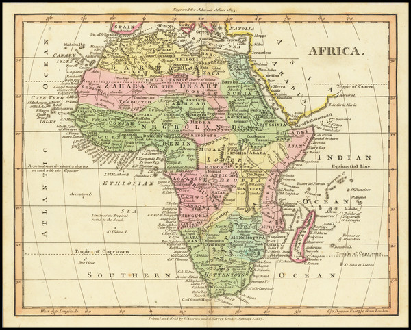 30-Africa Map By William Darton