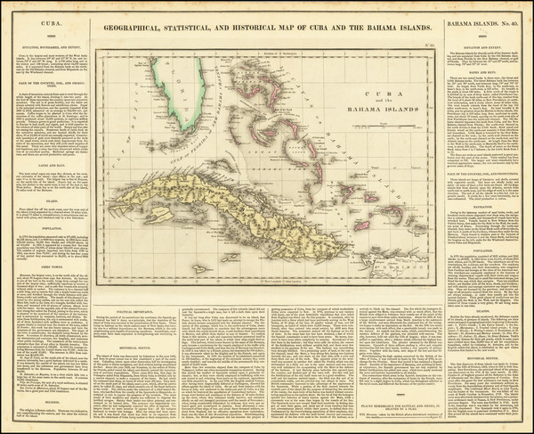 42-Cuba and Bahamas Map By Henry Charles Carey  &  Isaac Lea