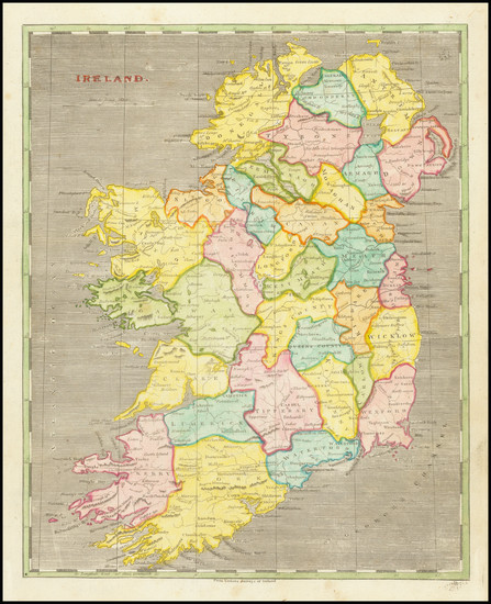 51-Ireland Map By Aaron Arrowsmith  &  Samuel Lewis