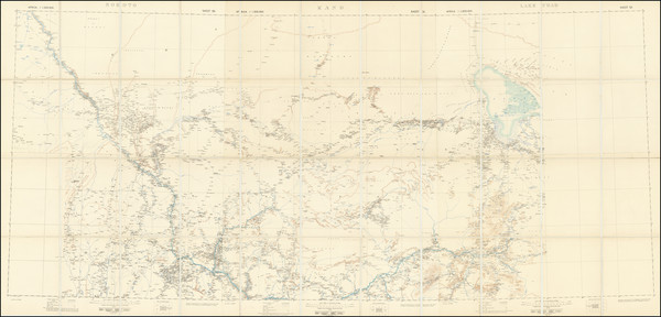 52-West Africa Map By W. & A.K. Johnston / Ordnance Survey / War Office