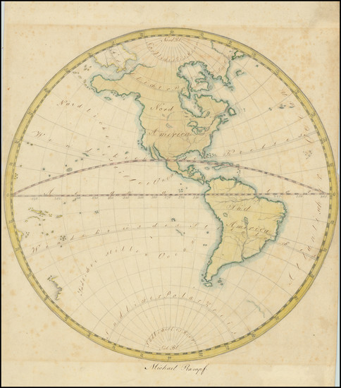 50-Western Hemisphere and America Map By Michael Rampf