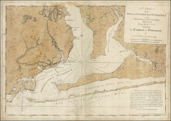 66-Florida and American Revolution Map By Joseph Frederick Wallet Des Barres / George  Gauld