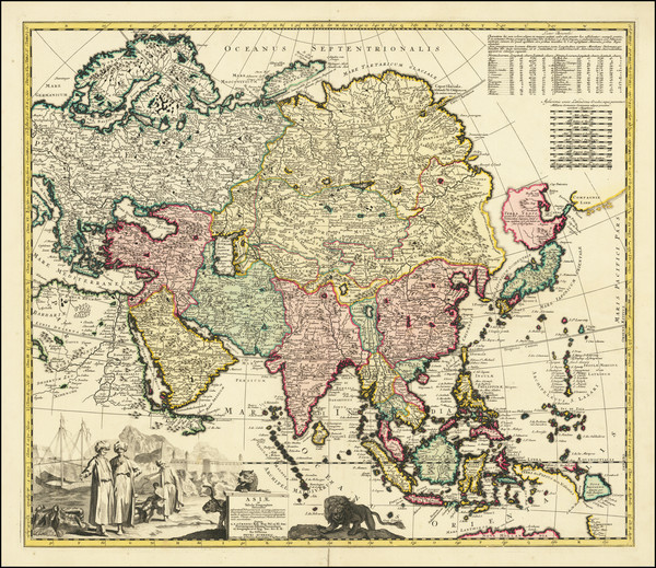 39-Asia Map By Adam Friedrich Zurner
