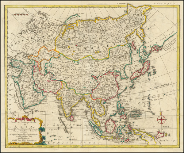 31-Asia Map By Willem Albert Bachienne