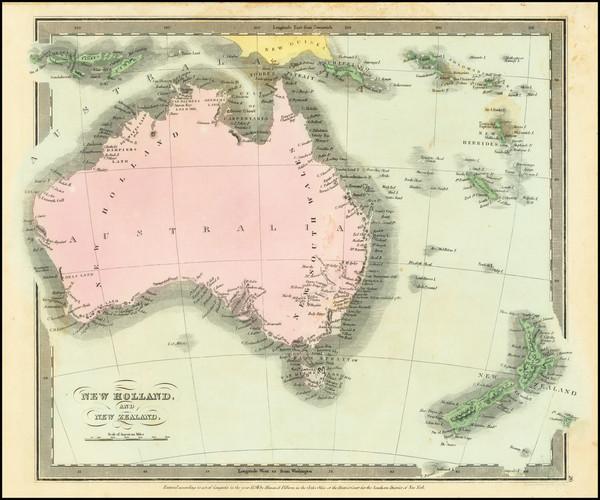 84-Australia Map By David Hugh Burr