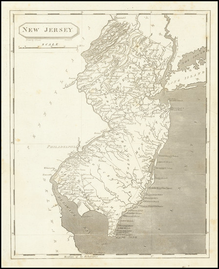 54-New Jersey Map By Aaron Arrowsmith  &  Lewis