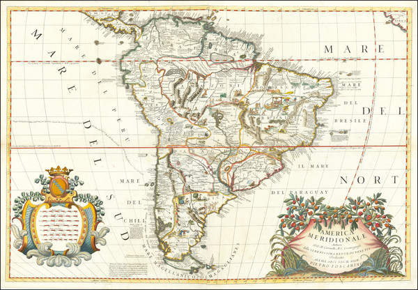 20-South America Map By Vincenzo Maria Coronelli