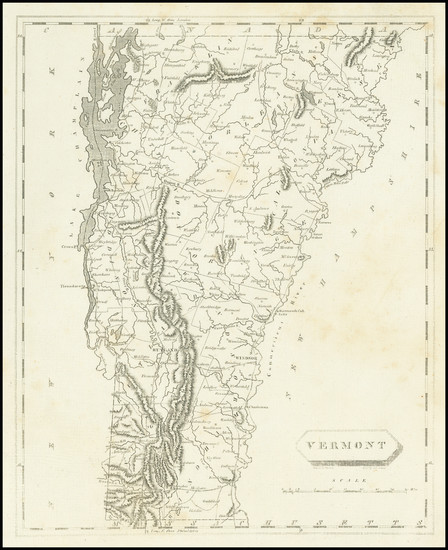 53-Vermont Map By Aaron Arrowsmith  &  Samuel Lewis