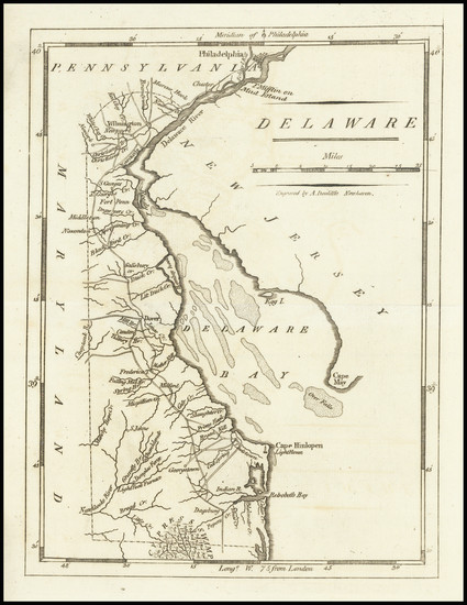 11-Delaware Map By Mathew Carey