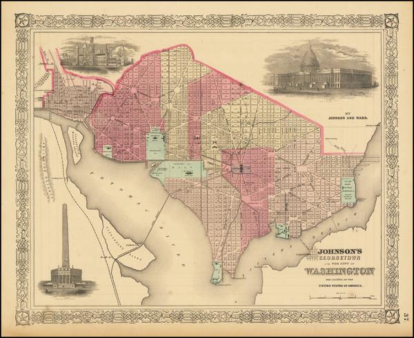 84-Washington, D.C. Map By Benjamin P Ward  &  Alvin Jewett Johnson