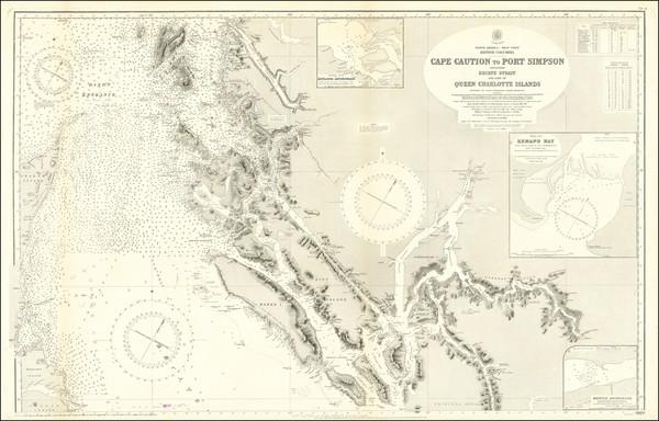 83-British Columbia Map By British Admiralty