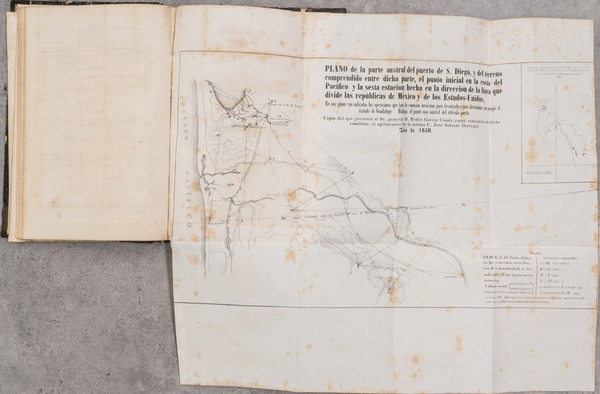 7-Mexico, California, San Diego, Rare Books and Fair Map By José Salazar Ylarregui
