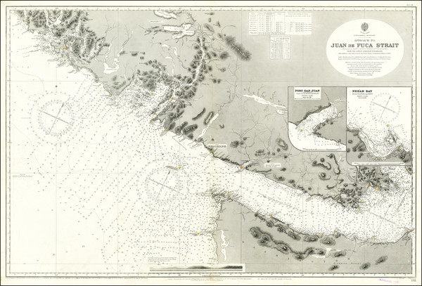 75-Washington and Western Canada Map By British Admiralty