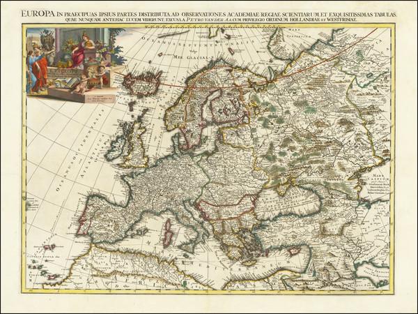 67-Europe Map By Pieter van der Aa