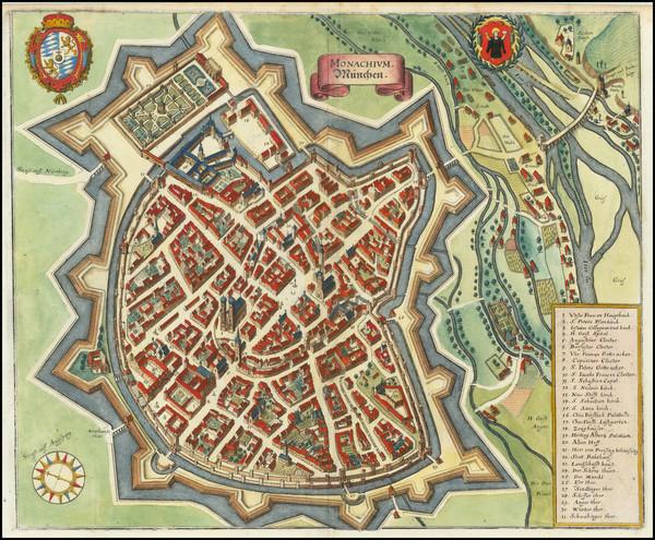 2-Germany Map By Matthaus Merian
