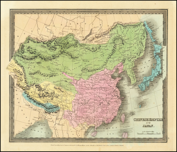 99-China, Japan and Korea Map By David Hugh Burr