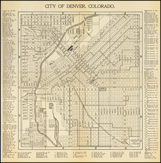 3-Colorado and Colorado Map By S.W. Baxter / C.N. Hoover